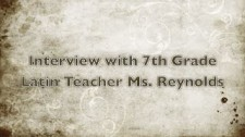 Interview with Ms. Reynolds